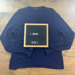 J. Crew Navy Cable Knit Sweater